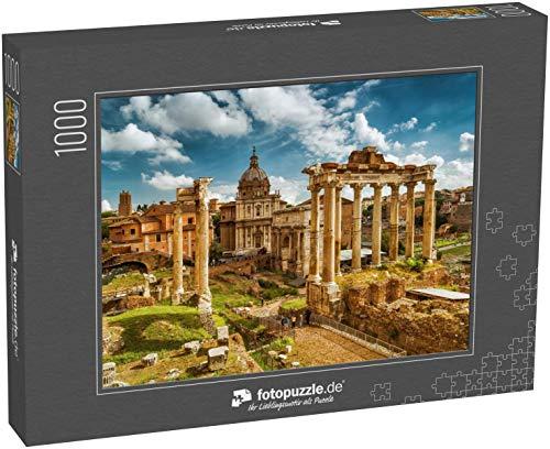 Puzzle 1000 Teile Blick auf das Römische Forum mit dem Tempel des Saturn, Rom, Italien - Klassische Puzzle mit edler Motiv-Schachtel, Fotopuzzle-Kollektion \'Italien\'