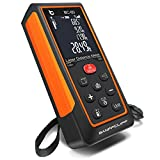 BanffCliff 196Ft 60M Laser Distance Measure M/in/Ft, Upgraded LCD Screen Electronic Bubble Level
