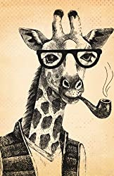 Bullet Journal Hipster Giraffe: 162 Numbered Pages With 150 Graph Style Grid Pages, 6 Index Pages and 2 Key Pages in Easy To Carry 5.5 X 8.5 Size.