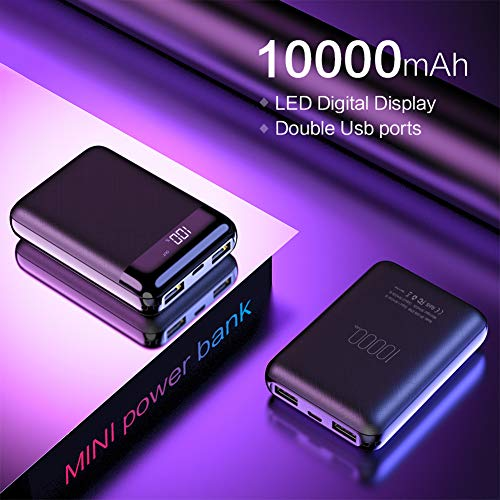 NA Mini Power Bank 10000mAh for Xiaomi Mi Powerbank Pover Bank Charger Dual Usb Ports External Battery Powerbank