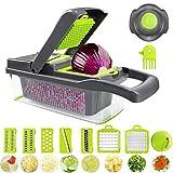 LGYKMU Gemüse Multifunktionale Cutter Chopper 12 in 1 Obst Cutter Slicer Hobel Dicer Mit...