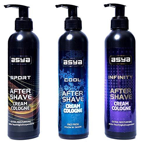 3x 250ml Asya Aftershave Bálsamo 1x Sport 1x infinity 1x Cool