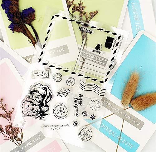 Venta caliente postal navideña sello transparente transparente/sello de silicona rodillo sello DIY álbum de recortes álbum/producción de tarjetas