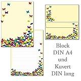Schmetterlinge - 1 Schreibblock Briefblock DIN A4
