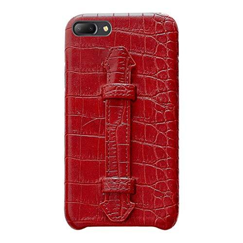 Suhctup Coque Compatible pour iPhone 7 Plus Rétro PU Cuir Cover Housse avec Fonction de Support [ 3D Emboss Crocodile Motif Texture Leather ] Ultra Fine Anti Choc Back Cover(Rouge)