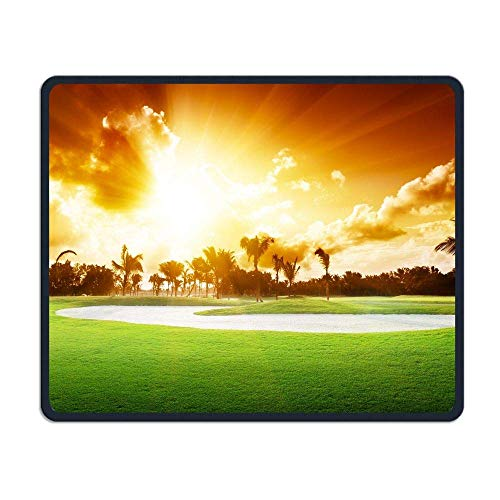 Tragbare Gaming-Mauspad Golfball Gras Komfortable rutschfeste Basis Langlebige genähte Kanten für Laptop-Computer