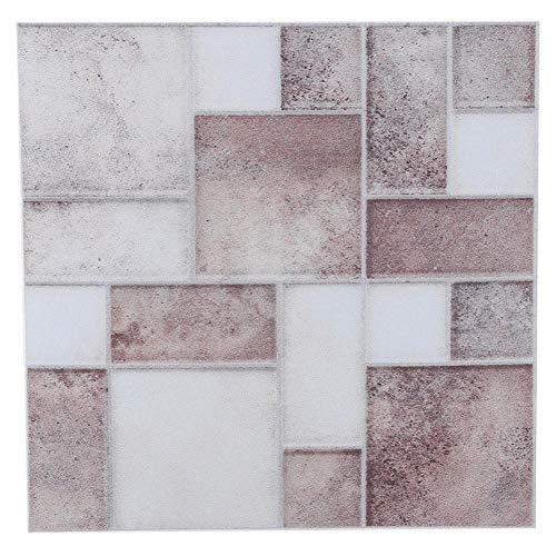 Pegatinas de pared mosaico 18 piezas autoadhesivas para azulejos de pared papel tapiz calcomanías de pared 3,93x3,93 pulgadas para baño cocina(003)