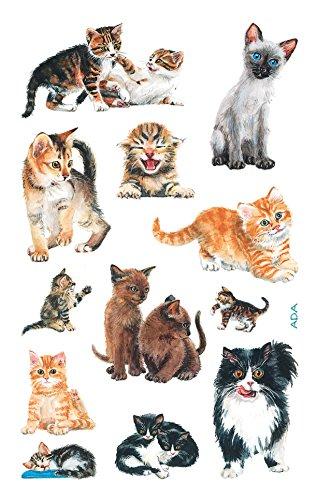 AVERY Zweckform 53574 Kinder Sticker Katzen 36 Aufkleber