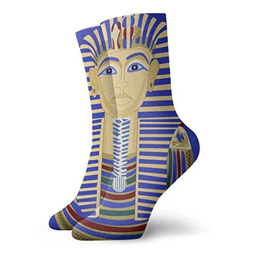 hgfyef Socken Atmungsaktiver König Pharao Tutanchamun Ägypten TUT Egyptian.jpg Crew Socke Exotische moderne Frauen & Männer Gedruckte Sport Athletic Socken 11.8in