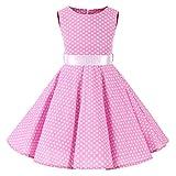 SXSHUN 2019 Niñas Vestido Pin-up Vestido Vintage 50's 60's Rockabilly Swing Dress Vestido de Noche p...