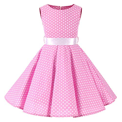 SXSHUN 2019 Niñas Vestido Pin-up Vestido Vintage 50's 60's Rockabilly Swing Dress...