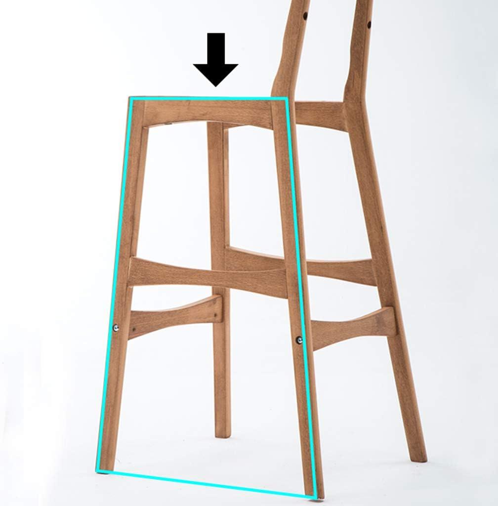 Tabouret de bar de petit déjeuner Tabouret de bar, chaise nordique simple en bois massif, dossier de café (Couleur : B) I