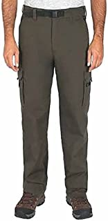 Men's Cotton Lined Adjustable Belted Cargo Pants