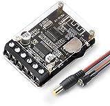 OWAYKEY Amplificador Bluetooth de audio 10 W 15 W 20 W 2.0 canales estéreo inalámbrico Mini amplificador módulo con carcasa protectora