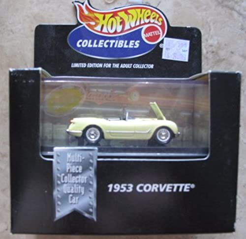 Hot Wheels Collectibles - Limited Edition Cool Collectibles - 1953 Corvette (Blau Chevrolet ConGrünible) - Mounted in Collector's Display Case