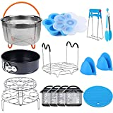 15 Pieces Pressure Cooker Accessories Set Compatible with Instant Pot Accessories 6 qt 8 Quart - Steamer...