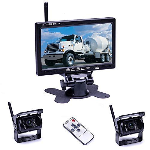 Drahtloses Rückfahrkamera-Monitor-Kit Wireless Rückfahr-Rückfahrkamera Nachtsicht Mit 7''Monitor für RV Truck Bus für PKW-LKW-Wohnmobile, wasserdicht, Super-Nachtsicht