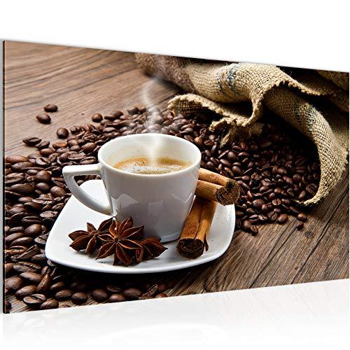 Bilder Küche Kaffee Wandbild 70 x 40 cm Vlies - Leinwand Bild XXL Format Wandbilder Wohnung Deko Kunstdrucke - MADE IN GERMANY - Fertig zum Aufhängen 501814a