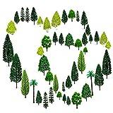 36pcs Gemischtes Bäume Modellbau (4 -16 cm), OrgMemory h0 Bäume, Tabletop Gelände, Spur n mit No Stände, Die Bäume stehen nicht selbständig
