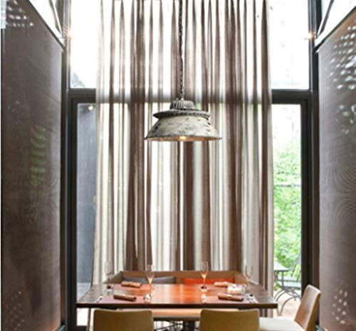 Candelabro Cubierta de Olla Loft Retro Viejo Gris Blanco 1 Luz E27 Boca de Tornillo Luz cálida Hierro Arte Diseñador Luz Colgante, Bar Creativo Restaurante Cafe Decoración