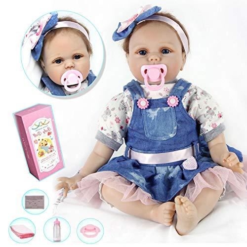 ZIYIUI DOLL Realista Muñecos Bebé Reborn Niña 22 Inch 55cm Recién Nacido Simulación Silicona Suave Juguetes