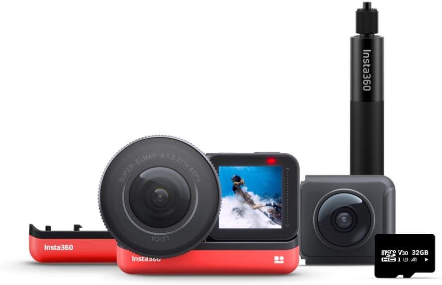 Insta360 One R Ultimate Kit - Cámara de acción con Sensor de 5,3 K de 1 Pulgada y cámara 360 de 5,7 K con Lentes Intercambiables, estabilización, Resistente al Agua