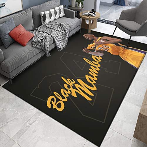 Kobe Bryant-BHING-Rug-weiche, komfortable, rutschfeste, waschbare und farbschnelle und schöne Fußmatte 80 * 120cm