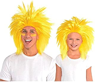 Amscan Crazy Party Wig Costume,  Yellow