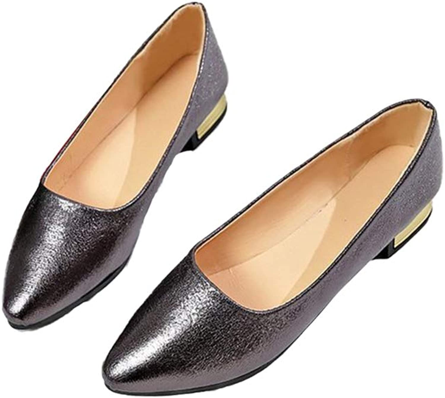 Women Flats shoes Pointed Toe Slip-On Solid color Fashion Dress Flats shoes