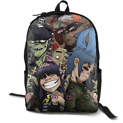 Cartoon DJ Art Travel Computer Bag Laptop Backpack Unisex, School College Fits 15'' Laptop