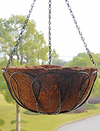 XYZ Environmentally Friendly rotonda Ferro battuto Hanging Orchid pentole, vasi sospesi, vasi da fiori, Hanging Planter Fiore Con Pothook delicato durevole