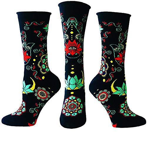 Ozone Womens Buddhist Blessing Socks, black, OSFM