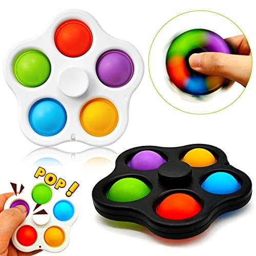Paochocky Juguetes para Aliviar el Estrés Bubble Spiner Mágico para Niños Adultos TDAH Autismo Regalos en Navidad Fiesta de Cumpleaños