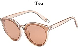 DAYUFEI - Gafas de Sol Redondas Retro para Mujer Ocean Beach Plastic Mirror Sunshade Travel Glasses Uv400