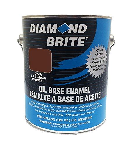 Diamond Brite Paint 31400 1-Gallon Oil Base All Purpose Enamel Paint Tile Brown