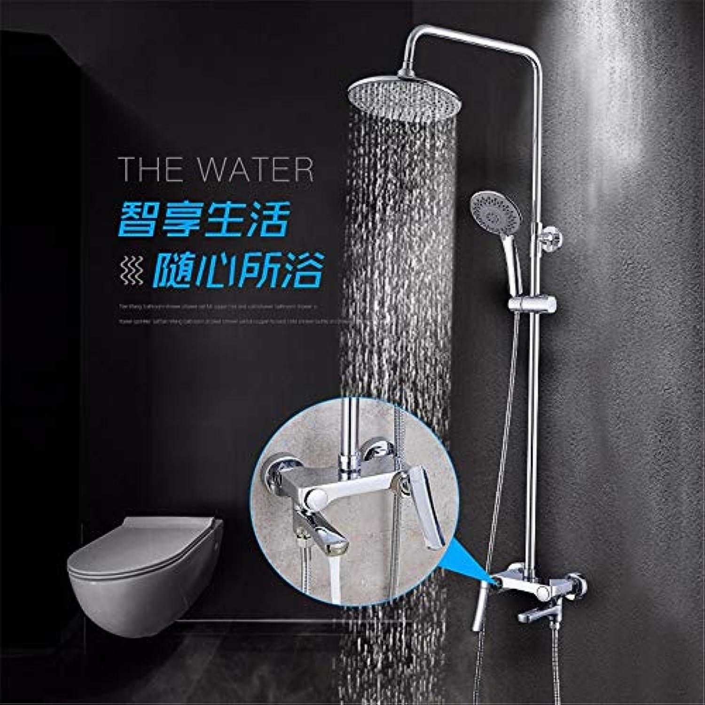 Kupfer neue eingebaute spool button dusche set bidet hei und kalt
