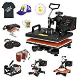 F2C Pro 6 in 1 Combo Heat Press Machine T-Shirt Hat Cap Mug Plate Digital Transfer Sublimation...