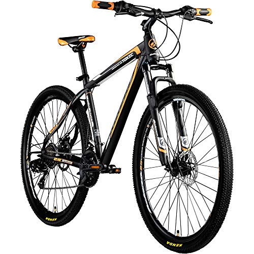 Galano 29 Zoll MTB Toxic/Pulse Mountainbike Scheibenbremsen Shimano Tourney (Schwarz/Orange)