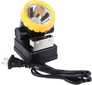 LED Mining Headlamp, Coal Miner Headlight Explosion Rroof Mining Light, Waterproof Saftety Cap Lamp BK2000 Rechargeable Coal mine Lamp Flashlight for Safety Helmet, Hard Hat, Hunting, Fishings (Black)
