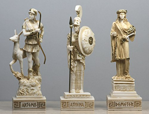 greekartshop Set 3 griechische römische Göttin (Artemis Demeter) Statue Skulptur Figur