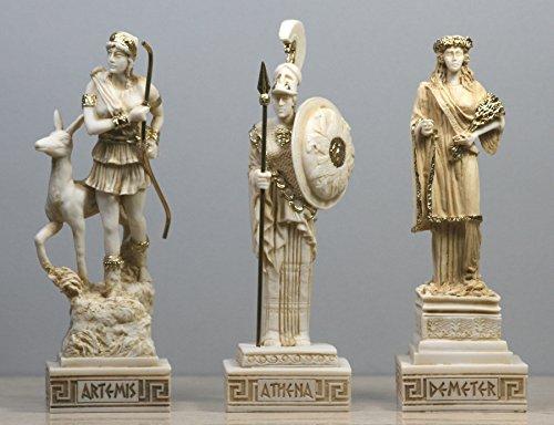 greekartshop Demeter, griechisch-römischen Göttin ατηενα Artemis Figur Skulptur Statue