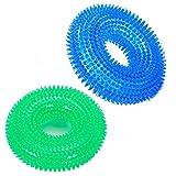 UEETEK Bague Ronde Pet Jouets TPR Tooth Toys Bite Résistant Dog Molaire Dents Jouets 2PCS (Bleu et Vert)