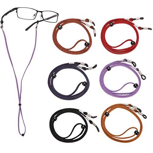 Shenzhen Real Imp & Exp Co.,Ltd LAOYE Brillenband Brillenkette Damen Brillenkordel Herren Brillenschnur für Sonnenbrillen, Lesebrillen, Schutzbrille- Set aus 6 Stück Brillenbänder
