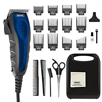Wahl Clipper Self-Cut Compact Personal Haircutting Kit with Whisper Quiet Operation Adjustable Taper Lever and 12 Hair Clipper Guards for Clipping Trimming & Personal Grooming - Model 79467