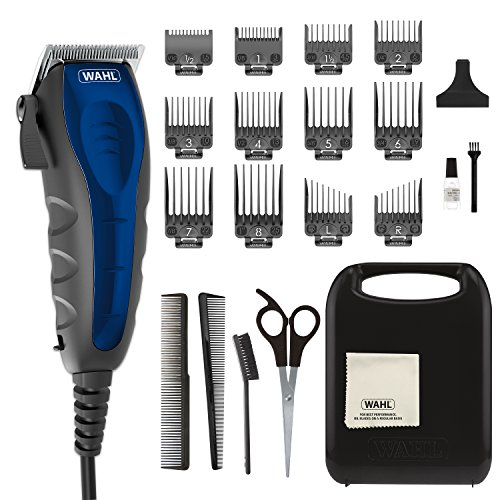 Wahl Clipper Self-Cut Compact Personal Haircutting Kit with Whisper Quiet Operation, Adjustable Taper Lever, and 12 Hair Clipper Guards for Clipping, Trimming & Personal Grooming - Model 79467