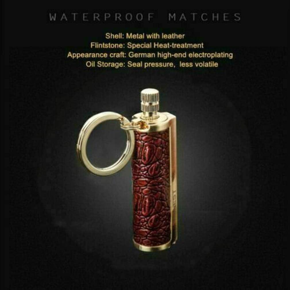Dragon/'s Breath Immortal Lighter Fire Starter Lighter Waterproof Flint Match Metal Keychain Camping Survival Kit EDC Gift Ideas and Emergency Survival Gear