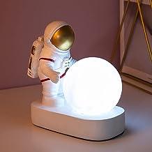 Astronautennachtlampje, creatief nachtlampje, bureaudecoratie, decoratie voor de kinderkamer (goud)