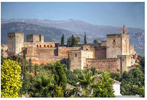 1000 Piezas Rompecabezas Alhambra 50cmx70cm para niños Juego Creativo Puzzle Navidad decoración del hogar Regalo