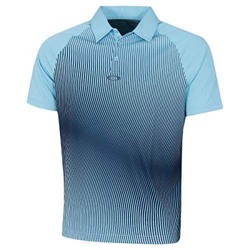 Oakley Dynamic Camisa de Polo, Azul Aviador, XS para Hombre