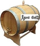 Agorà Botti Barril de Roble de 15 litros con Grifo de latón.